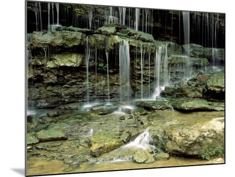 Falls on a Tributary of the Caney Falls River, TN-Willard Clay-Mounted Photographic Print