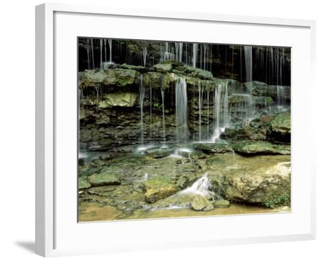 Falls on a Tributary of the Caney Falls River, TN-Willard Clay-Framed Art Print