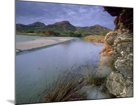 Estuary of Fango River, La Corse, France-Olaf Broders-Mounted Photographic Print