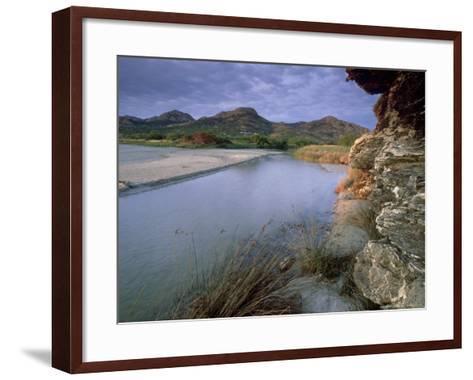Estuary of Fango River, La Corse, France-Olaf Broders-Framed Art Print