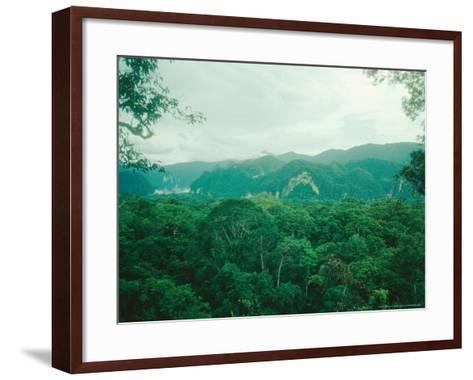 Mulu National Park, Borneo, Weather Time-Lapse, 6Pm-Rodger Jackman-Framed Art Print