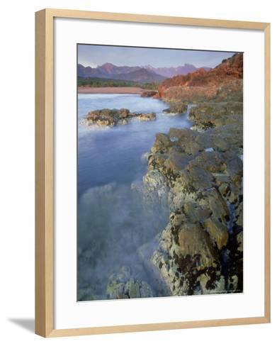 Corsican Coastline, Corsica, France-Olaf Broders-Framed Art Print