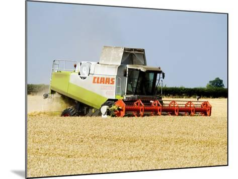 Combine Harvester, England-Martin Page-Mounted Photographic Print