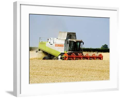 Combine Harvester, England-Martin Page-Framed Art Print