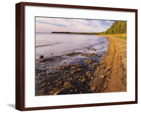 Morning Light on the Shore of Green Bay at Europe Bay County Park, Wisconsin, USA-Willard Clay-Framed Art Print