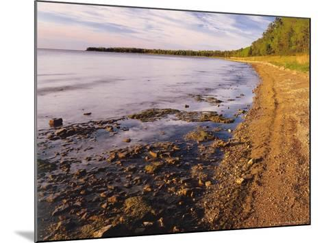 Morning Light on the Shore of Green Bay at Europe Bay County Park, Wisconsin, USA-Willard Clay-Mounted Photographic Print