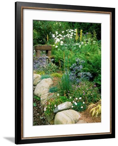 Garden Situated on a Hillside Overlooking Loch Ness, Scotland-Lynn Keddie-Framed Art Print