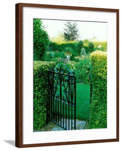 Large Cottage Style Garden, with Colourful Herbaceous Borders-Lynn Keddie-Framed Art Print