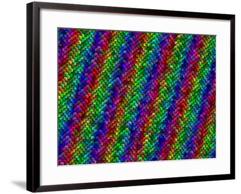 Multi-Coloured and Three-Dimentional Striped Fractal Design-Albert Klein-Framed Art Print