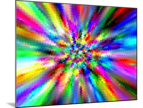 Abstract Multi-Coloured Background with Smeared Paint Effect-Albert Klein-Mounted Photographic Print