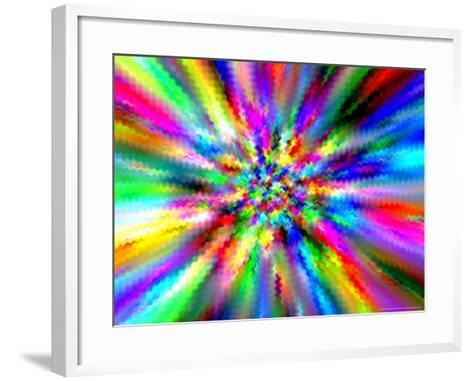 Abstract Multi-Coloured Background with Smeared Paint Effect-Albert Klein-Framed Art Print