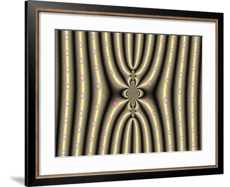 Abstract Design on Spotted Background-Albert Klein-Framed Art Print