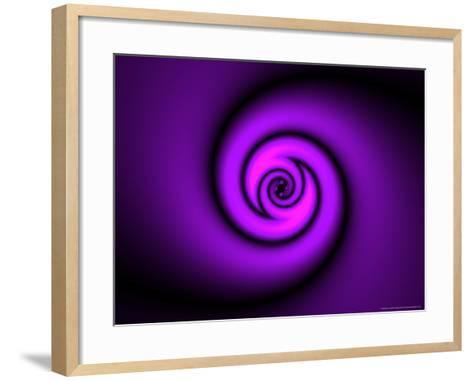 Abstract Swirl Design on Purple Background-Albert Klein-Framed Art Print