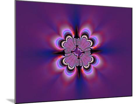 Abstract Pattern on Purple Background-Albert Klein-Mounted Photographic Print