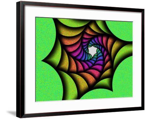 Multi-Colured Abstract Spiral Pattern-Albert Klein-Framed Art Print