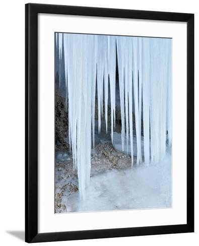 Ice Abstract, Slovenia-David Clapp-Framed Art Print