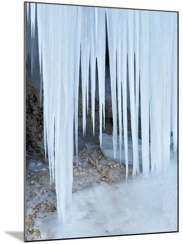 Ice Abstract, Slovenia-David Clapp-Mounted Photographic Print