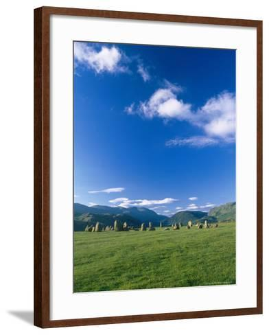 Castlerigg Stone Circle, the Lake District, UK-Ian West-Framed Art Print