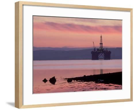 Oil Rig at Dawn, Ross-Shire, Scotland-Iain Sarjeant-Framed Art Print