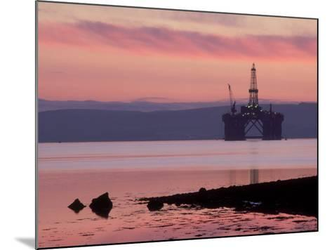 Oil Rig at Dawn, Ross-Shire, Scotland-Iain Sarjeant-Mounted Photographic Print
