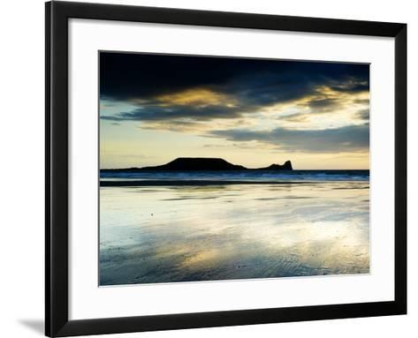 The Worms Head, Gower Peninsula, South Wales-Martin Page-Framed Art Print