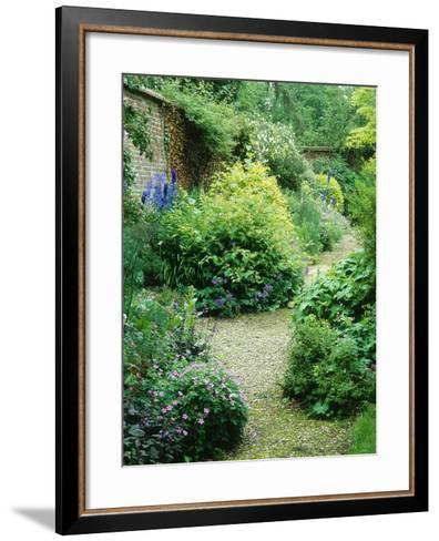 Walled Garden, Winding Path Through Herbaceous Border-Lynn Keddie-Framed Art Print