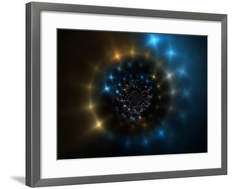 Abstract Space-Like Design-Albert Klein-Framed Art Print