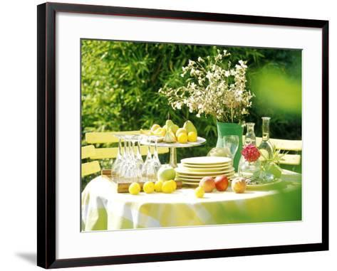 Table with Tablecloth Set-Martine Mouchy-Framed Art Print