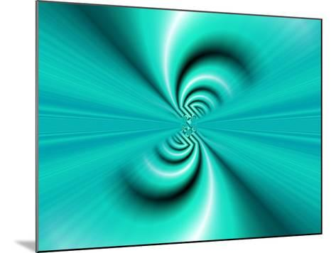 Abstract Fractal Pattern in Turquoise-Albert Klein-Mounted Photographic Print