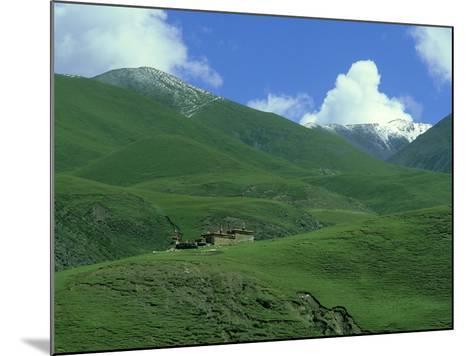 Mountain Monastery, Tibet-Michael Brooke-Mounted Photographic Print