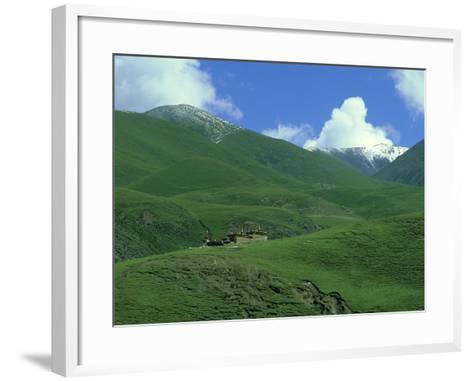 Mountain Monastery, Tibet-Michael Brooke-Framed Art Print