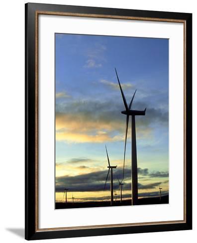 Wind Turbines at Sunset, Caithness, Scotland-Iain Sarjeant-Framed Art Print