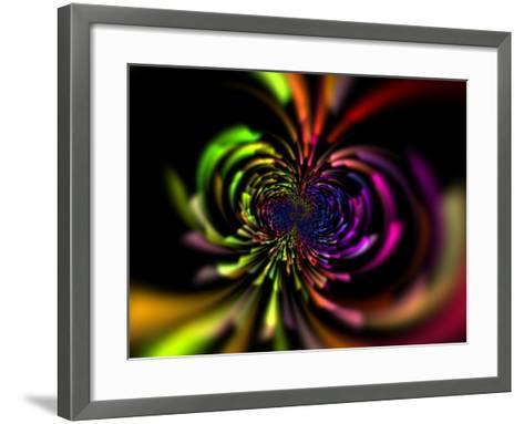 Abstract Multi-Coloured Design with Perspective-Albert Klein-Framed Art Print