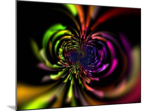 Abstract Multi-Coloured Design with Perspective-Albert Klein-Mounted Photographic Print