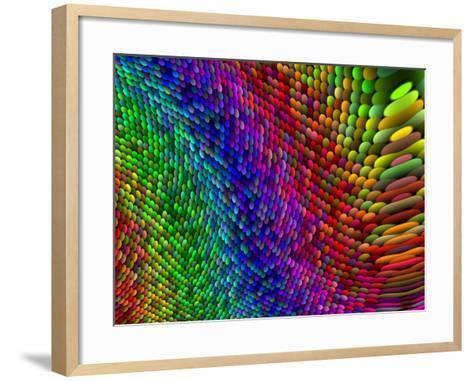 Multi-Coloured Fractal Design-Albert Klein-Framed Art Print