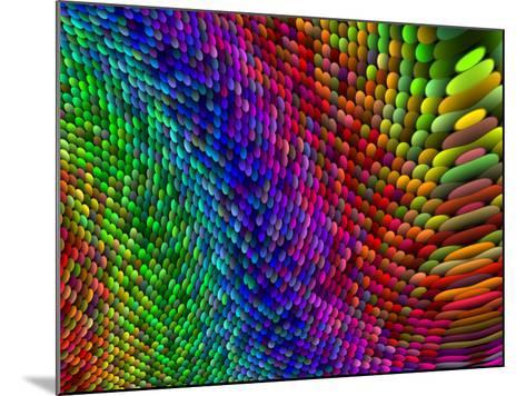 Multi-Coloured Fractal Design-Albert Klein-Mounted Photographic Print