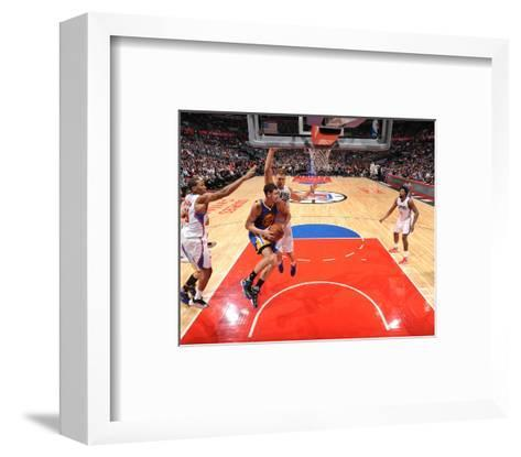Golden State Warriors v Los Angeles Clippers-Andrew D Bernstein-Framed Art Print