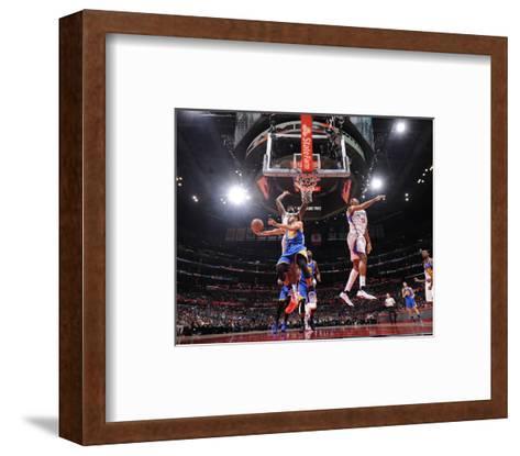 Golden State Warriors v Los Angeles Clippers-Andrew D Bernstein-Framed Art Print
