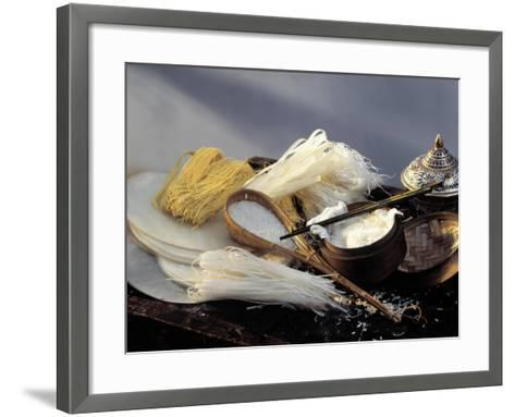 Assorted Asian Noodles and Rice-Susie M. Eising-Framed Art Print
