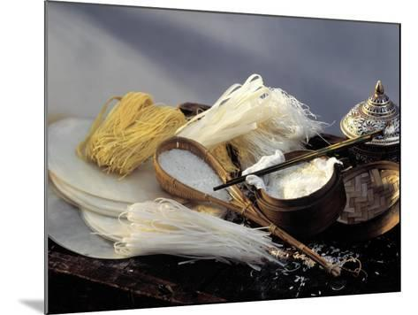 Assorted Asian Noodles and Rice-Susie M. Eising-Mounted Photographic Print