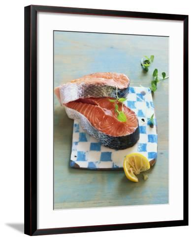 Two Salmon Cutlets-Matthias Hoffmann-Framed Art Print