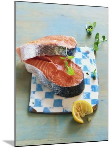 Two Salmon Cutlets-Matthias Hoffmann-Mounted Photographic Print