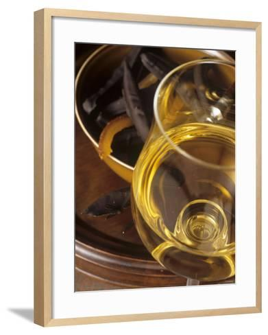 A Glass of Vin de Paille (Sweet Wine, France)-Jean-charles Vaillant-Framed Art Print