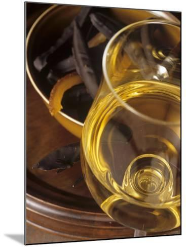 A Glass of Vin de Paille (Sweet Wine, France)-Jean-charles Vaillant-Mounted Photographic Print