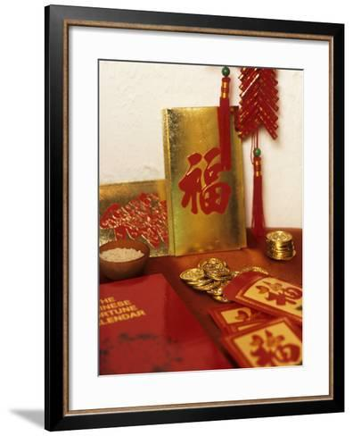 Chinese Good Luck Symbols For New Year Gold Coins Rice