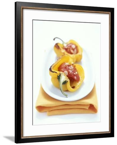 Baked Peppers with Tomato Stuffing-Michael Boyny-Framed Art Print