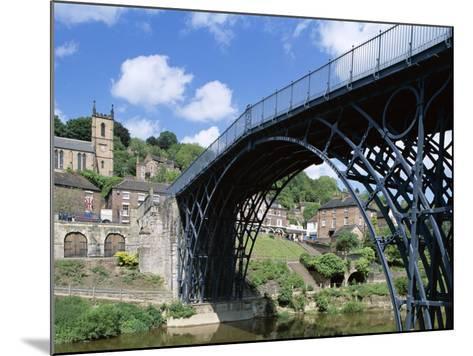 Ironbridge Gorge, Worlds' First Iron Structure (1779) by Designer Abraham Darby--Mounted Photographic Print