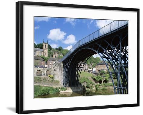 Ironbridge Gorge, Worlds' First Iron Structure (1779) by Designer Abraham Darby--Framed Art Print