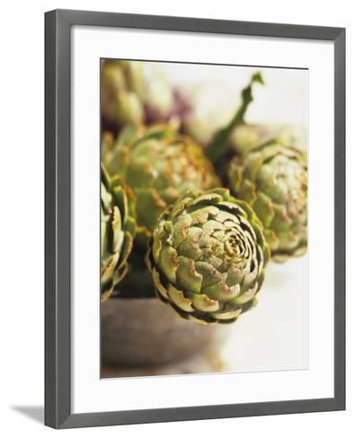Fresh Artichokes-Debi Treloar-Framed Art Print