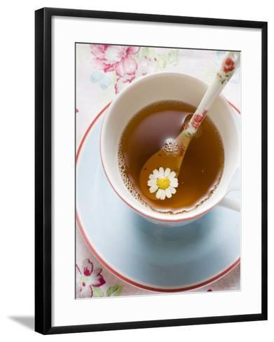 Chamomile Tea in Cup with Spoon--Framed Art Print